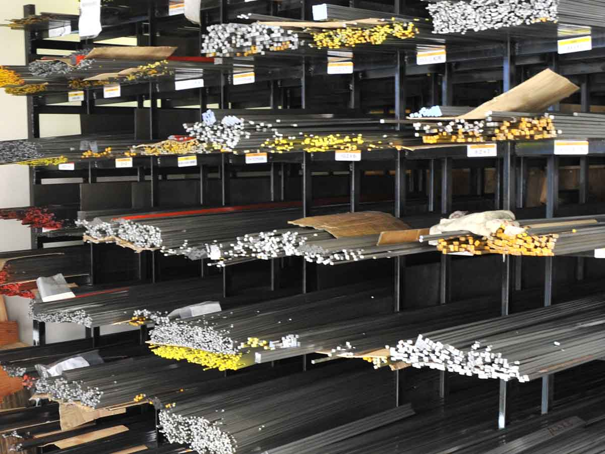 We maintain a wide range of types of steel